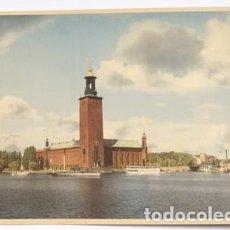 Postales: POSTAL DE SUECIA TAMAÑO GRANDE 22X15 STOCKHOLM, SWEDEN. Lote 65913866