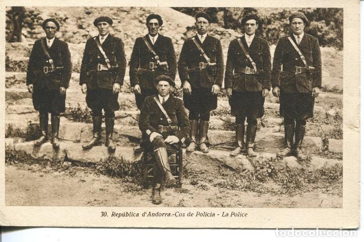 ANDORRA-COS DE POLICIA- REPUBLICA DE ANDORRASALA- MUY RARA (Postales - Postales Extranjero - Europa)