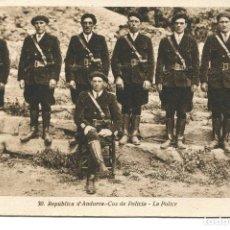 Postales: ANDORRA-COS DE POLICIA- REPUBLICA DE ANDORRASALA- MUY RARA. Lote 67214133