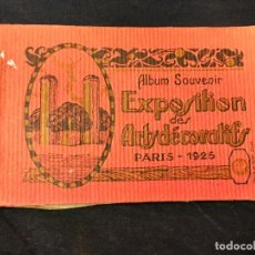 Postales: ALBUM SOUVENIR EXPOSITION DE ARTS DECORATIFS PARIS 1925 COMPLETO 40 POSTALES. Lote 67596433