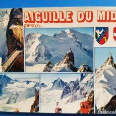 Postales: CHAMONIX MONT BLANC - AIGUILLE DU MIDI. Lote 68544013