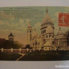 Postales: PARIS MONTMARTRE CIRCULADA 1914. Lote 68675197