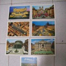 Postales: LOTE 7 POSTALES DE ROMA. Lote 69388133