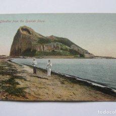 Postales: POSTAL ANTIGUA DE GIBRALTAR. GIBRALTAR FROM THE SPANISH SHORE. BEANLAND MALIN. NO CIRCULADA. Lote 69449281