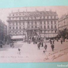 Postales: 2923 FRANCIA FRANCE RHÔNE LYON PLACE DES TERRAUX 1903. Lote 69639345