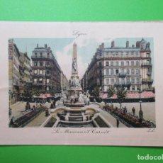 Postales: 2928 FRANCIA FRANCE RHÔNE LYON LE MONUMENT CARNOT. Lote 69641173