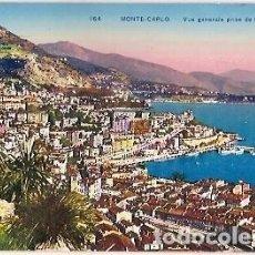 Postales: ANTIGUA POSTAL 164 MONTE CARLO VUE GENERALE PRISE DE MONACO. Lote 71135005