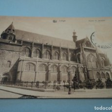 Postales: LIEGE EGLISE ST. JACQUES CIRCULADA NELS MATASELLOS EXP. 1910. Lote 71708459