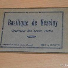 Postales: ESTUCHE CON 12 TARJETAS POSTALES - BASILIQUE DE VEZELAY - SIN CIRCULAR. Lote 71804691
