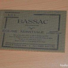 Postales: LIBRITO CON 15 TARJETAS POSTALES - ÉGLISE ABBATIALE - EDITION ARTISTIQUE - SIN CIRCULAR. Lote 71804875