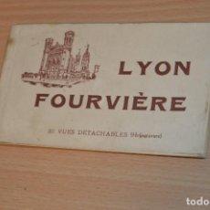 Postales: LIBRITO CON 20 TARJETAS POSTALES - LYON FOURVIÈRE - SIN CIRCULAR - MIRA LAS FOTOS. Lote 71805047