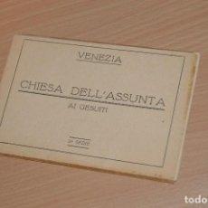 Postales: ESTUCHE CON 7 TARJETAS POSTALES - VENEZIA - CHESA DELL'ASSUNTA, AI GESUITI - 2ª SERIE - SIN CIRCULAR. Lote 71805399