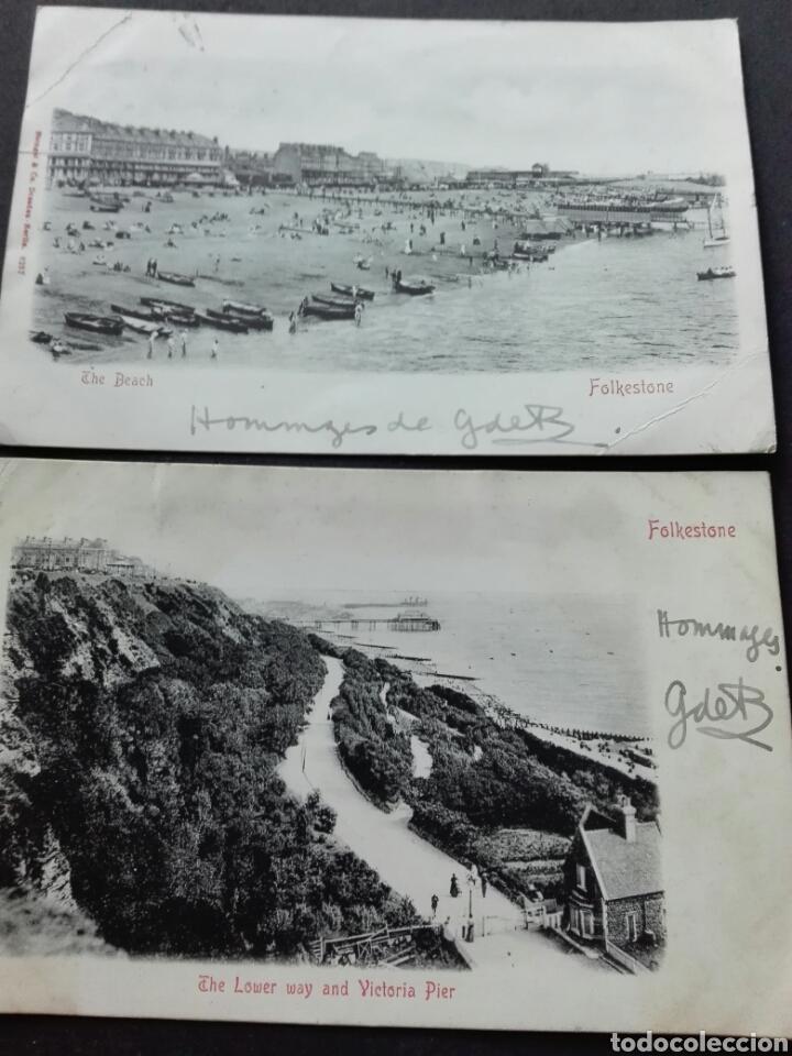 FOLKESTONE THE BEACH (Postales - Postales Extranjero - Europa)