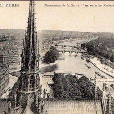 Postales: FRANCIA/FRANCE - PARÍS - PANORAMA DE LA SEINE - VUE PRISE DE NOTRE DAME - PRINCIPIOS S. XX. Lote 72639459