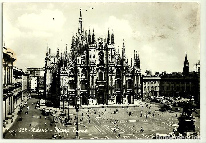 POSTAL DE MILANO (PIAZZA DUOMO) (Postales - Postales Extranjero - Europa)