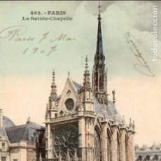 Postales: POSTAL COLOREADA - FRANCIA/FRANCE - PARÍS - LA SAINTE CHAPELLE - PRINCIPIOS S. XX - JUANA FABRE. Lote 72769943