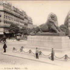 Postales: POSTAL - FRANCE/FRANCIA - PARÍS - EL LEÓN DE BELFORT - LE LION DE BELFORT - PRINCIPIOS S. XX-173. Lote 72770391