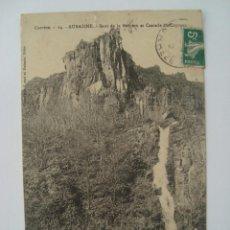 Postales: AUBAZINE CASCADA DU COYROUX 1902 CIRCULADA. Lote 73655171