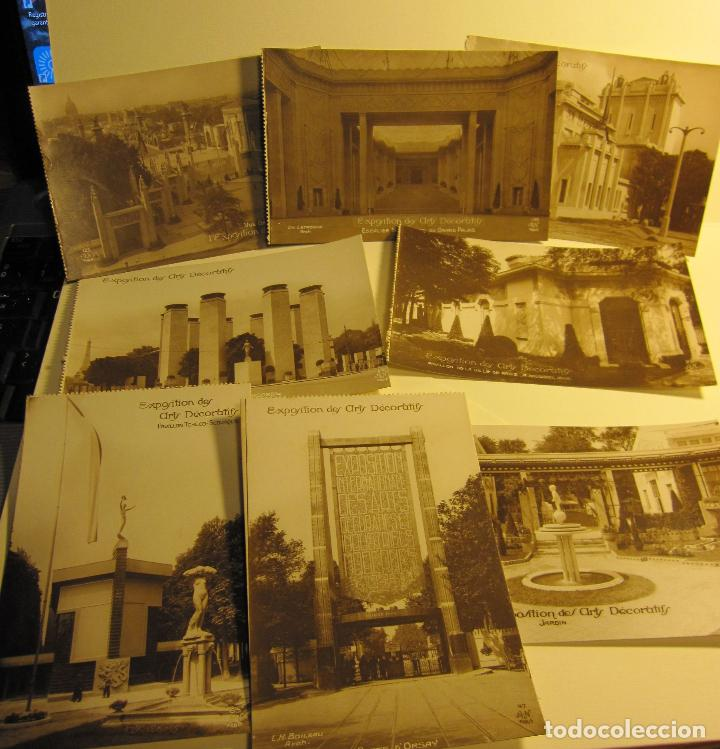 SIETE POSTALES EXPOSITION DES ARTS DECORATIFS PARIS 1925 ARQUITECTURA A.N./PARIS. SIN CIRCULAR (Postales - Postales Extranjero - Europa)