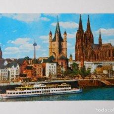 Postales: KÖLN AM RHEIN. BANK OF THE RHINE WITH THE CATHEDRAL AND GROB-ST. MARTIN. BORD AU RHIN AVEC LA CAT.... Lote 84324812