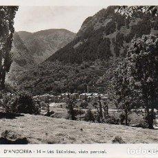 Postales: VALLS D'ANDORRA - 14 LES ESCALDES, VISTA PARCIAL. Lote 74349027