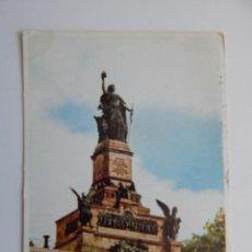 Postales: DER RHEIN: NIEDERWALDDENKMAL BEI RÜDESHEIM. THE RHINE. LE RHIN. Lote 85052440