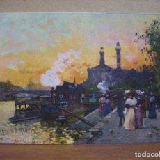 Postales: POSTAL ANTIGUA: PARIS. W. SCENES DE PARIS. SUR LES QUAIS.- 2005-7. Lote 74672279