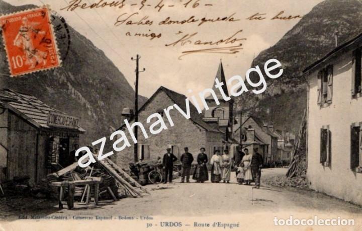 URDOS, ROUTE D`ESPAGNE, CIRCULADA A LARACHE EN 1916 (Postales - Postales Extranjero - Europa)