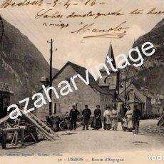 Postales: URDOS, ROUTE D`ESPAGNE, CIRCULADA A LARACHE EN 1916. Lote 75408783