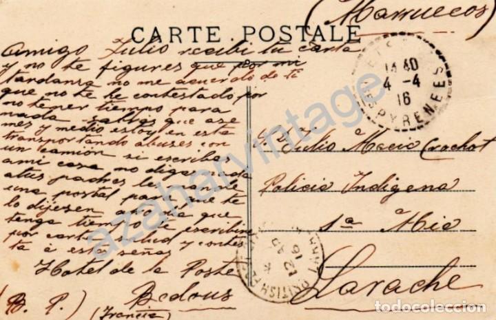Postales: URDOS, ROUTE D`ESPAGNE, CIRCULADA A LARACHE EN 1916 - Foto 2 - 75408783
