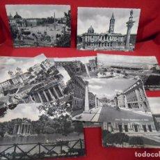 Postales: LOTE DE 20 POSTALES ANTIGUAS DE ROMA (ITALIA) - BLANCO Y NEGRO -. Lote 76640159