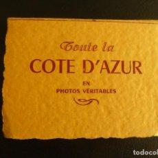 Postales: DESPLEGABLE DE 14 FOTOS DE LA COSTA AZUL. AÑOS 50. Lote 76654615