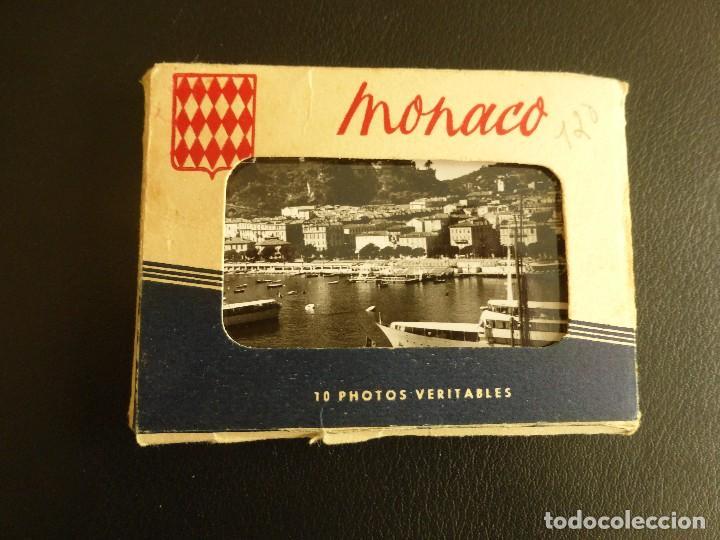 ÁLBUM CON 10 PEQUEÑAS POSTALES 9 X 6,5 CM DE MÓNACO. EDITIONS AJAX, AÑOS 50 (Postales - Postales Extranjero - Europa)