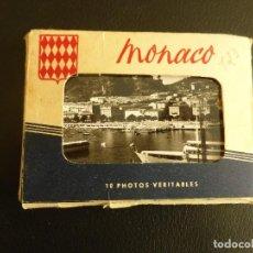 Postales: ÁLBUM CON 10 PEQUEÑAS POSTALES 9 X 6,5 CM DE MÓNACO. EDITIONS AJAX, AÑOS 50. Lote 76655419