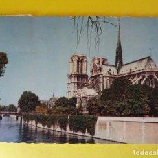 Postales: LOTE DE 3 POSTALES CIRCULADAS AÑOS 60 PARIS,NOTRE DAMME Y LONDON. Lote 76708463