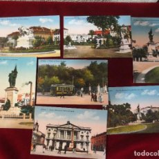 Postales: SIETE POSTALES DE LISBOA DE P.P. S. XX COLOREADAS. Lote 78594405