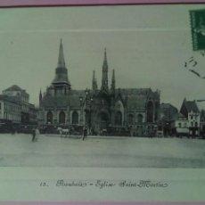 Postales: POSTAL FRANCIA 1912 ROUBOIX EGLISE SAINT MARTIN. Lote 78935334