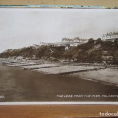 Postales: POSTAL ANTIGUA: THE LEAS FROM THE PIER, FOLKESTONE. CIRCULADA CON SELLO AÑO 1948. Lote 80593450