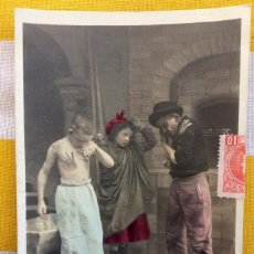 Postales: POSTAL 1903 COLOREADA SIN DIVIDIR CIRCULADA GIJÓN EDICIÓN BLANC ET NOIR 124/9 COLETTE INTERVIENT. Lote 82009624