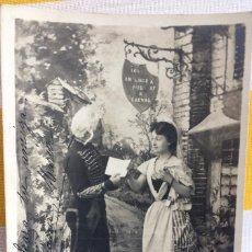 Postales: POSTAL LE BILLET DE LOGEMENT TEATRO 1903 SIN DIVIDIR CIRCULADA GIJÓN DISEÑO H.MANUEL S.I.P65 SERIE 2. Lote 82021572