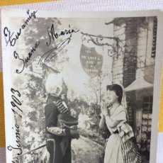 Postales: POSTAL LE BILLET DE LOGEMENT TEATRO 1903 SIN DIVIDIR CIRCULADA GIJÓN DISEÑO H.MANUEL S.I.P65 SERIE 3. Lote 82022064