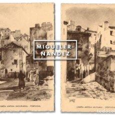 Postales: 2 POSTALES LISBOA ANTIGUA. DIBUJOS DE JOSÉ CONTENTE, 1937. NO CIRCULADAS. Lote 83624248