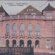 Postales: POSTAL ALEMANIA GERMANY - MAINZ - MAYENCE - THEATRE MUNICIPAL ET STATUE DE GUTENBERG. Lote 83710164