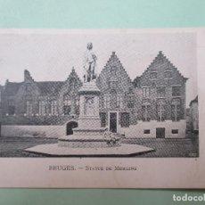 Postales: 3343 BELGIQUE BELGIE BELGIUM FLANDRE OCCIDENTALE BRUGGE BRUGES STATUE DE MEMLING. Lote 83864912