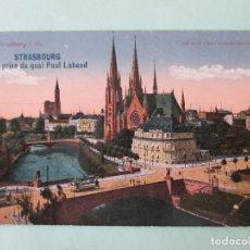 Postales: 3375 FRANCIA FRANCE BAS RHIN STRASSBURG STRASBOURG VUE QUAI PAUL LABAND BLICK VON PAUL LABAND 1919. Lote 83964244