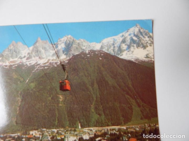 Postales: Matasellos especial - Chamonix Mont Blanc. La Ville, vue du téléphérique du Brévent; au fond, la ... - Foto 2 - 84683272
