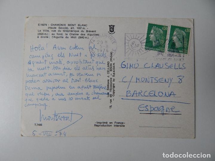 Postales: Matasellos especial - Chamonix Mont Blanc. La Ville, vue du téléphérique du Brévent; au fond, la ... - Foto 3 - 84683272
