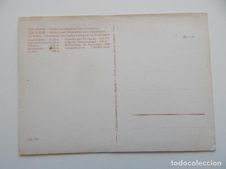 Postales: Der Rhein: Niederwalddenkmal bei Rüdesheim. The Rhine. Le Rhin - Foto 2 - 85052440