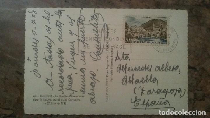 Postales: FOTO POSTAL TROQUELADA DE LOURDES - Foto 2 - 85096780