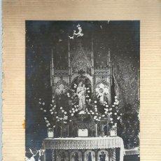 Postales: MA - PRECIOSA FOTOGRAFIA ANTIGUA - UNA CAPILLA PRIVADA - FOTO- J.RATO - AMATEUR DEL 17 - 8 - 1913. Lote 85205516